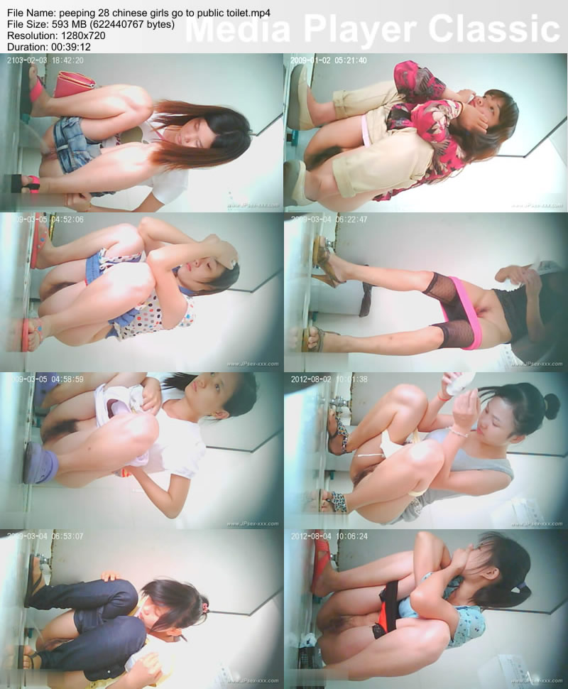 peeping 28 chinese girls go to public toilet