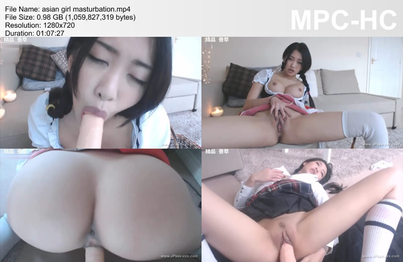 asian girl masturbation