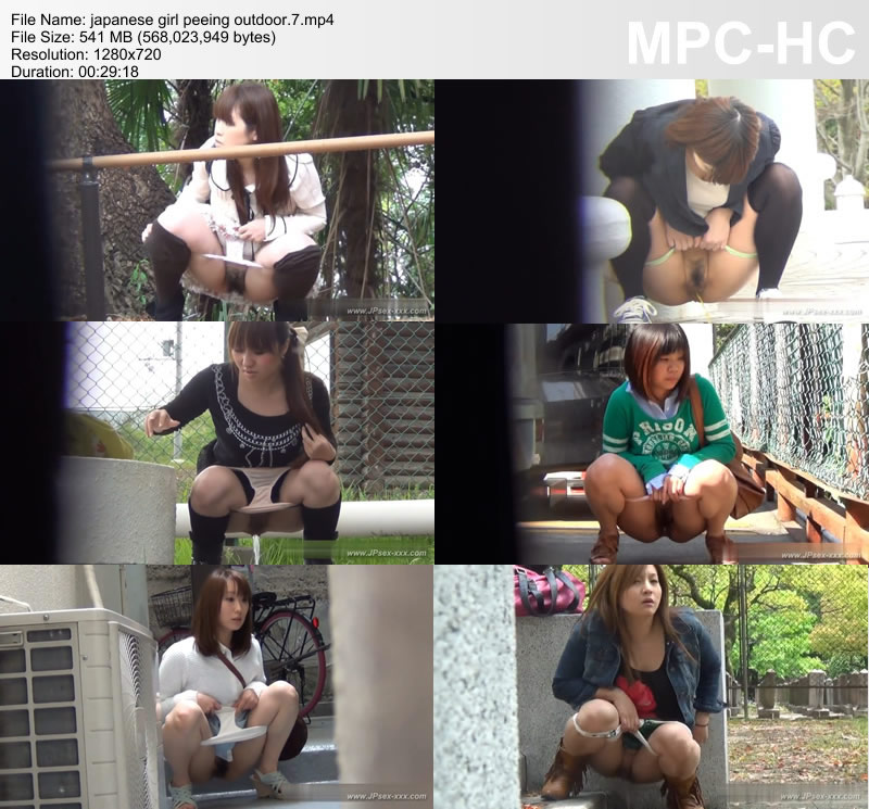 japanese girl peeing outdoor.7