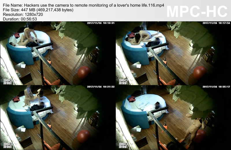 Hackers use the camera to remote monitoring of a lover\'s home life.116
