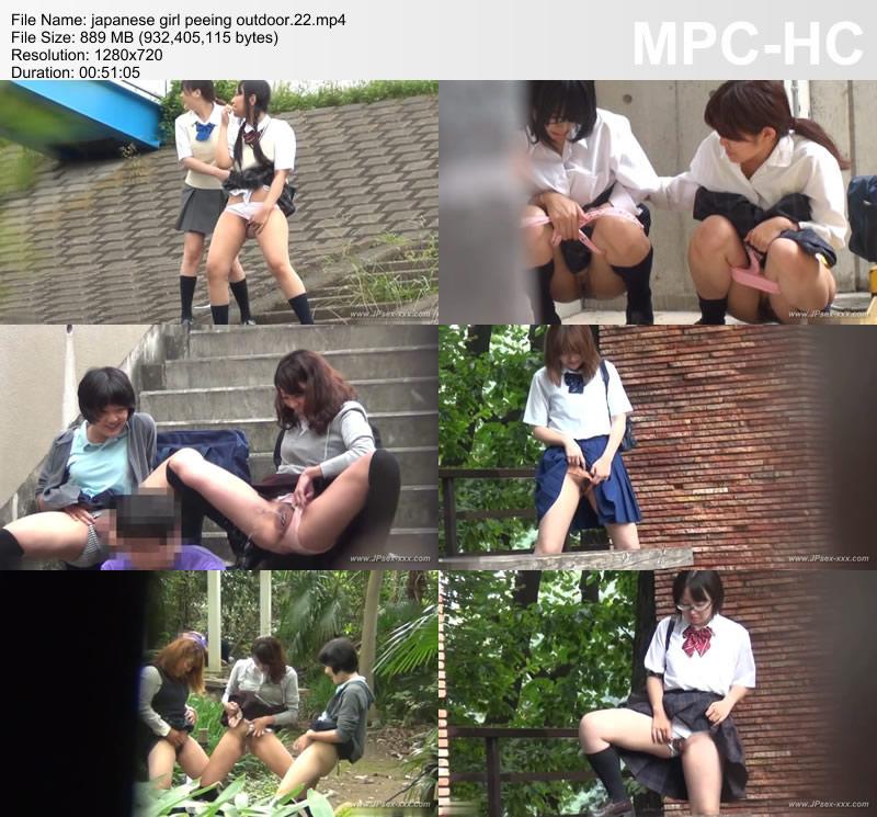 japanese girl peeing outdoor.22