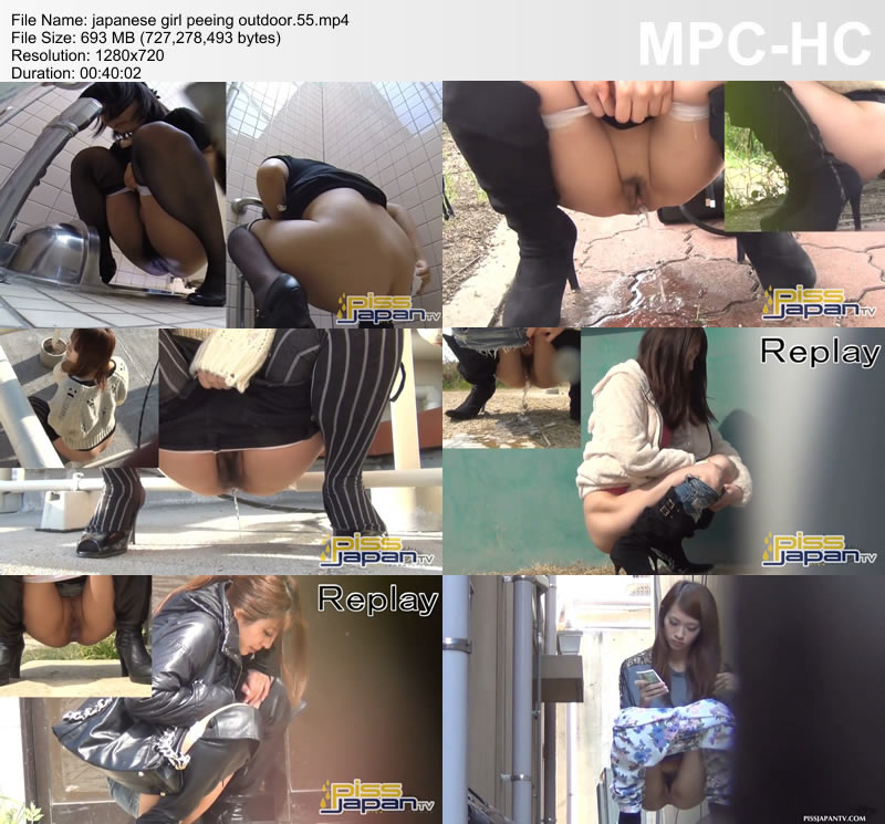 japanese girl peeing outdoor.55